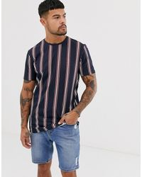 Only & Sons - Stripe T-shirt In Navy - Lyst