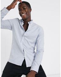 SELECTED Klassiek Gestreept Oxford Overhemd - Blauw