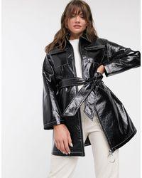 Glamorous Belted Jacket - Black