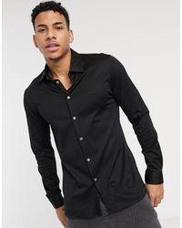 Lacoste Premium Slim Fit Overhemd Van Katoen - Zwart