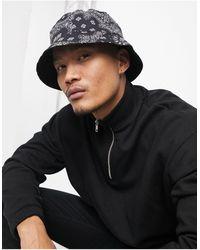 ASOS Omkeerbare Bucket Hat - Zwart