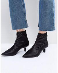 Bershka - Kitten Heel Boot - Lyst