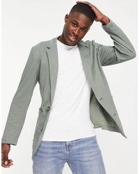ASOS Blazer ajusté en jersey - Vert