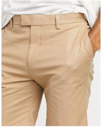 TOPMAN Skinny Chino Shorts - Brown