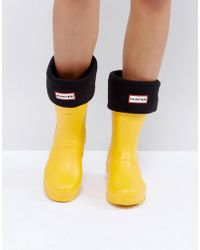 HUNTER - Original Black Short Boot Socks - Lyst
