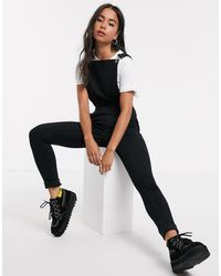Noisy May Denim Dungarees - Black