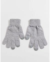 ASOS Touch Screen Gloves - Gray