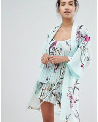 Ted Baker B By Flight Of The Orient Mint Kimono - Green