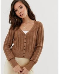 Abercrombie & Fitch Knit V-neck Cardigan - Brown