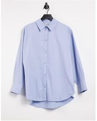Weekday Edyn - Camicia oversize blu