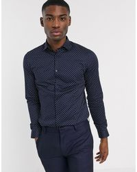 Jack & Jones Premium - Superslim-fit Overhemd - Blauw