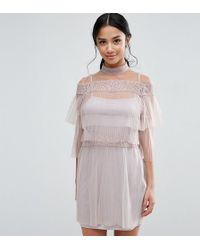 True Decadence - All Over Lace And Ruffle Pleated Mini Dress - Lyst