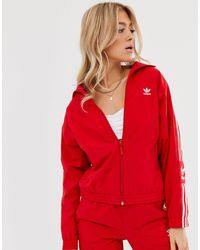 adidas Originals Locked Up - Giacca sportiva rossa con logo - Rosso