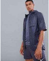 390e2f5edd9a Nike - Just Do It Print Short Sleeve Jacket In Purple 928491-081 - Lyst