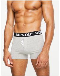 RIPNDIP Ripndip Peek A Nermal Boxers - Grey