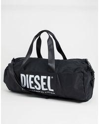 DIESEL Large Logo Gym Bag - Black