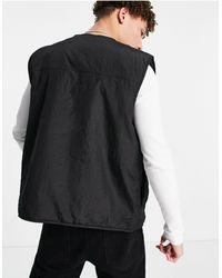 New Look Черный Жилет В Утилитарном Стиле С Карманами -черный Цвет
