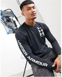 Under Armour Training Tech Triple Logo Long Sleeve Top - Black