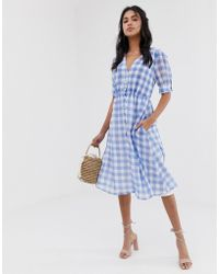 Capulet - Tally Gingham Midi Dress - Lyst