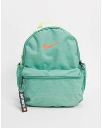 """Nike - Zainetto con logo """"just do it"""" verde e giallo - Lyst"""