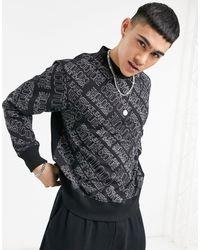 Versace Jeans Couture Черный Свитшот Со Сплошным Принтом Логотипа От Комплекта Couture-черный Цвет