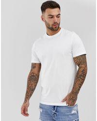 New Look Camiseta con cuello redondo en blanco