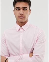 New Look - Camicia vestibilità classica rosa chiaro - Lyst