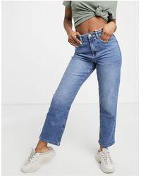 ONLY - Megan - Jeans dritti ampi azzurri - Lyst
