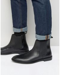 ASOS DESIGN - Chelsea Boots In Leather - Wide Fit Available - Lyst