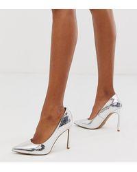 ASOS Porto Pointed High Heeled Court Shoes - Metallic