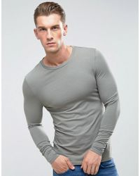 ASOS | Extreme Muscle Long Sleeve T-shirt With Crew Neck In Grey | Lyst