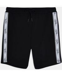 TOPMAN Signature Tape Lounge Shorts - Black