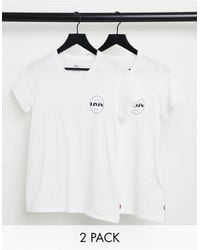 Levi's Perfect Tee 2 Pack - White