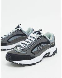 Skechers Stamina Cutback - Sneakers - Grijs