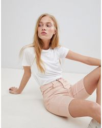 B.Young - Longline Denim Shorts - Lyst