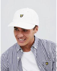 Lyle & Scott - White Logo Baseball Cap - Lyst