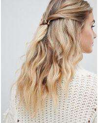 Pieces - Tortoiseshell Hair Clip - Lyst