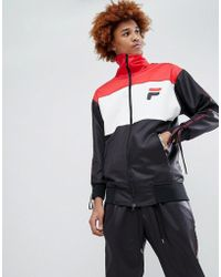 D-ANTIDOTE X Fila Track Jacket With Taping - Black