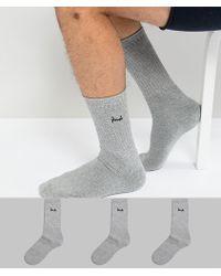 Pringle of Scotland - Crew Socks In 3 Pack - Lyst