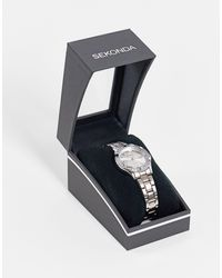 Sekonda – damen-armbanduhr aus verschiedenen metallen - Mettallic