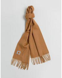 Carhartt WIP Clan Wool Scarf In Fawn - Brown