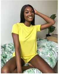 ASOS Mix & Match Jersey Pyjama Tee - Yellow