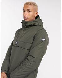 Pull&Bear Overhead Padded Jacket - Green