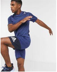 adidas Originals - Темно-синяя Футболка Adidas Training-темно-синий - Lyst