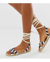 ASOS Jala Espadrille Flat Sandals - Blue