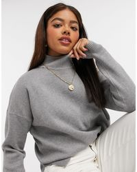 New Look High Neck Sweater - Gray