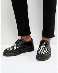 Dr. Martens | Core Fusion Zebra Creepers In Black | Lyst