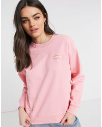 Levi's Standard Crew Neck Sweatshirt - Pink