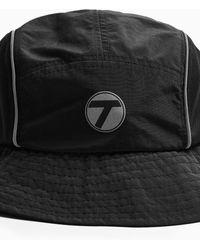 TOPMAN Reflective Bucket Hat - Black