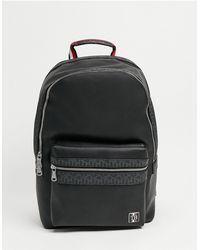 Tommy Hilfiger Черный Рюкзак Из Искусственной Кожи С Логотипом И Монограммой -черный Цвет